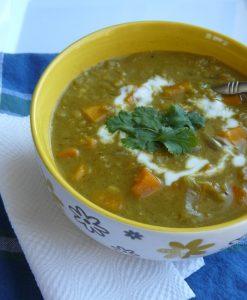 Super Curried Red Lentil & Sweet Potato Soup
