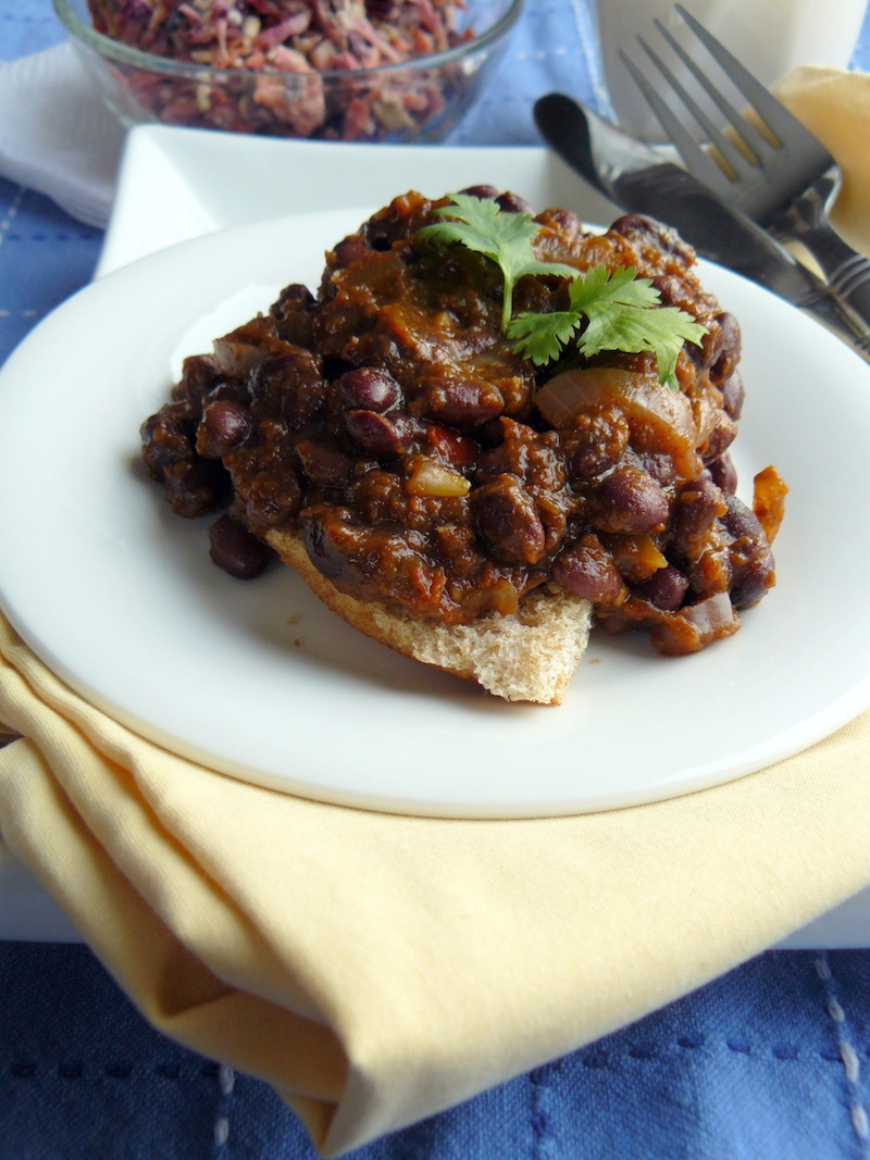 Black Bean Sloppy Joes inside