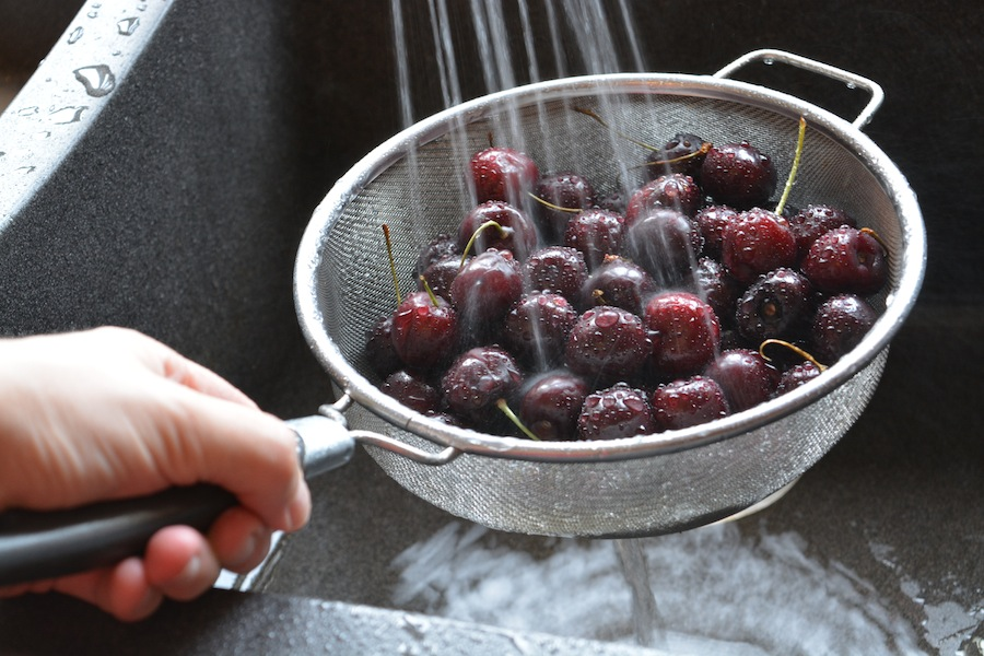 Coconut Chia Pudding with Cherry Compote sm