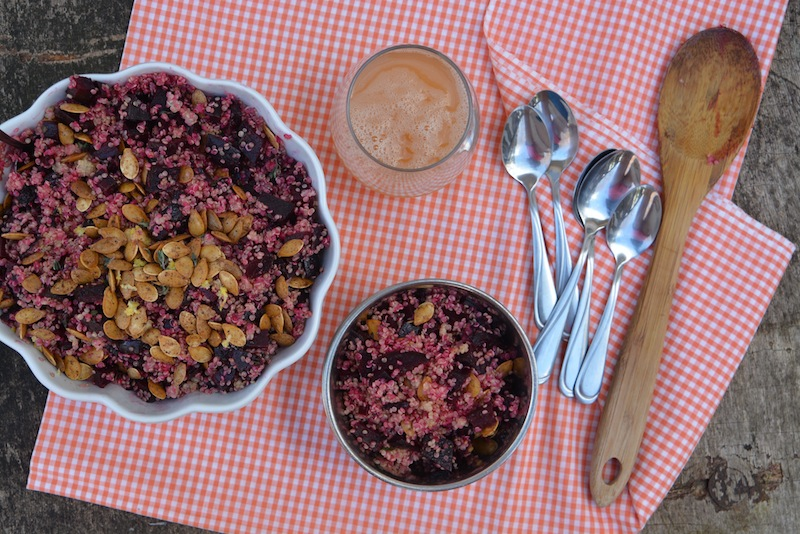 Big Protein Beet & Quinoa Salad -3 small